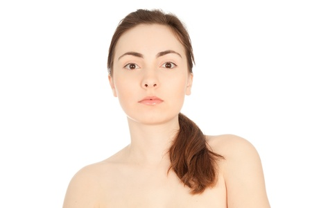 Beautiful nude woman looking to the camera photo