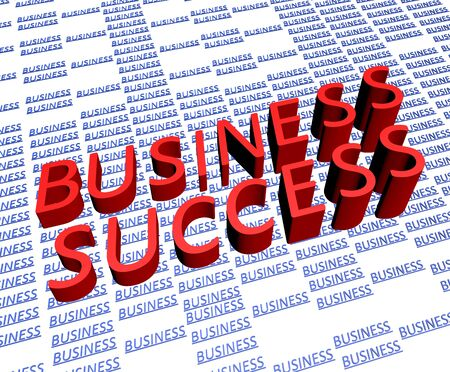 Concept of bussiness success 3d render photo