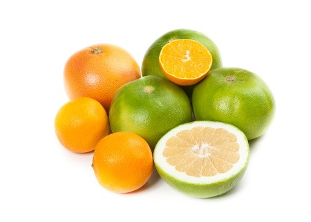 Picture of healthy fruit isolated on white photo
