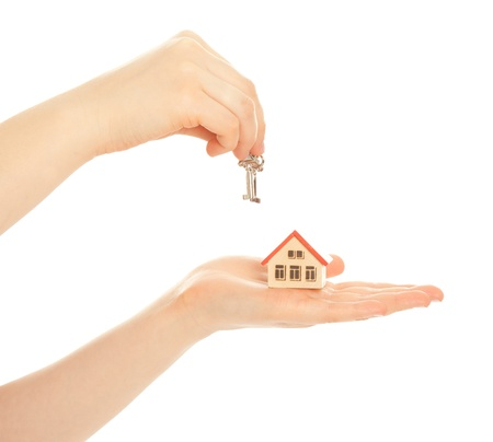 Concept of buying a new house isolated Stock Photo - 19483260