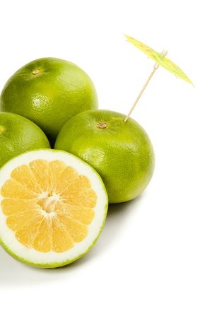 Picture of citruses on the white background photo