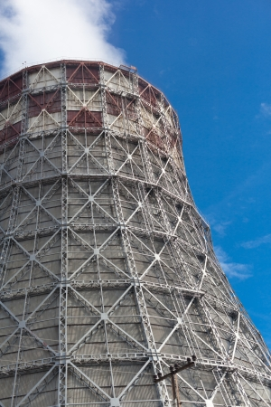 Power plant with huge cooling towers against blue sky Stock Photo - 20193460