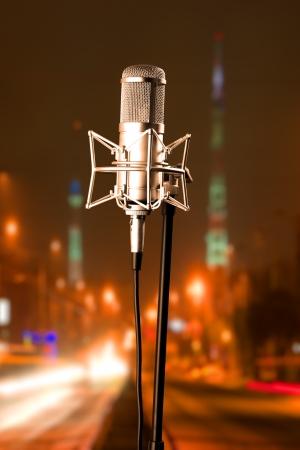 microfono de radio: Micr?fono Foto de archivo