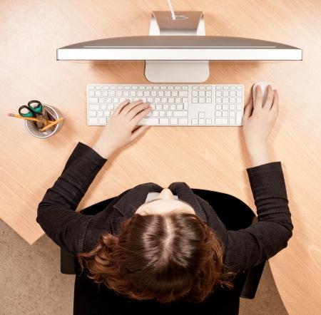 La mujer en el lugar de trabajo Foto de archivo - 22268027