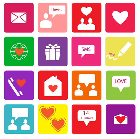 Set of colorful valentine s day icons Vector