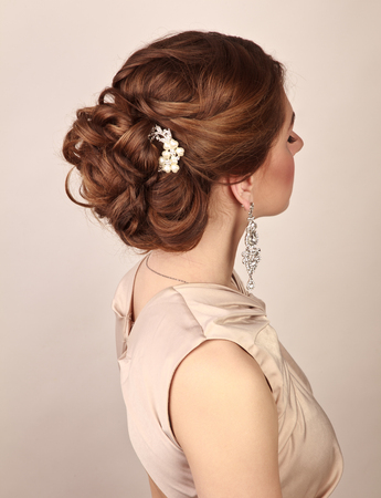 hairstyles: Picture of beautiful woman with gorgeous hairstyle