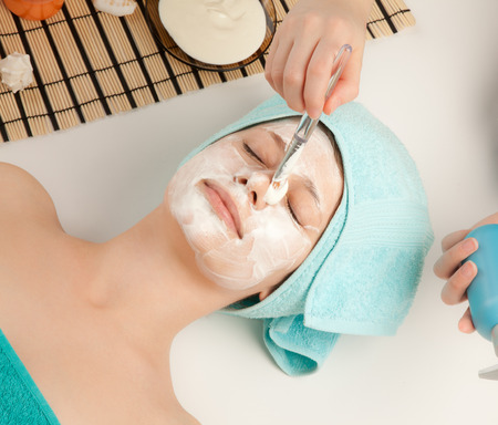Picture of beautiful woman at spa procedures photo
