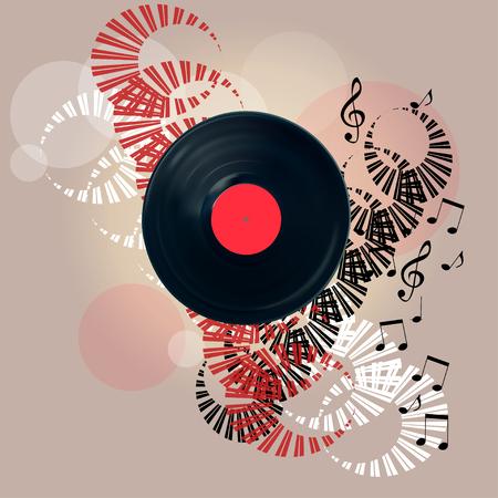 Weinlese-Vinylaufzeichnungsbanner.EPS10