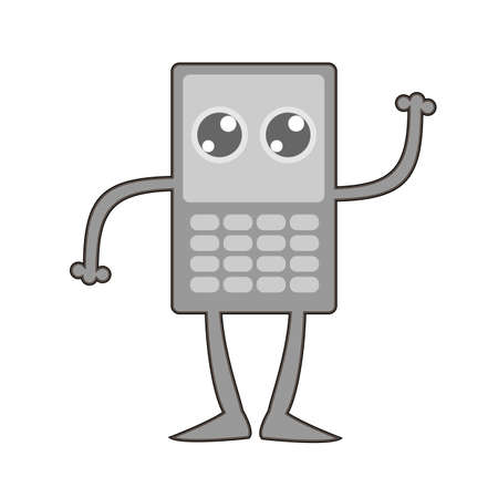retro: Retro cellphone icon.