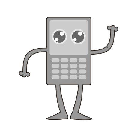 cellphone: Retro cellphone icon.