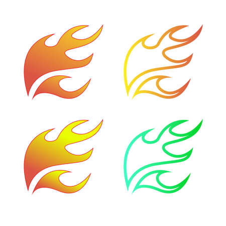 Simple fire icon Illustration