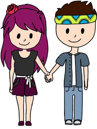 couple Vektorové ilustrace