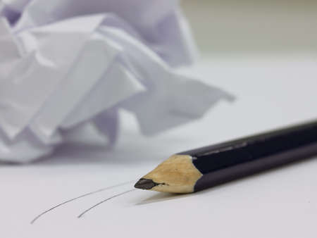 paper with pencil Stock Photo