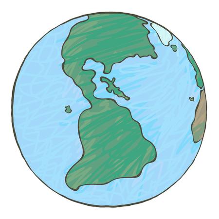 map bolivia: La tierra en estilo caricaturesco