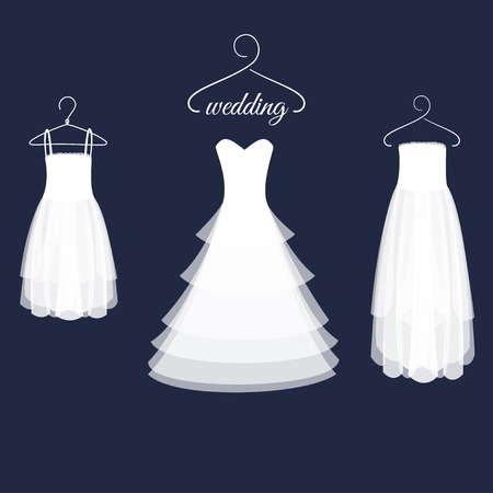 clothing shop: Wedding Dresses on Hangers