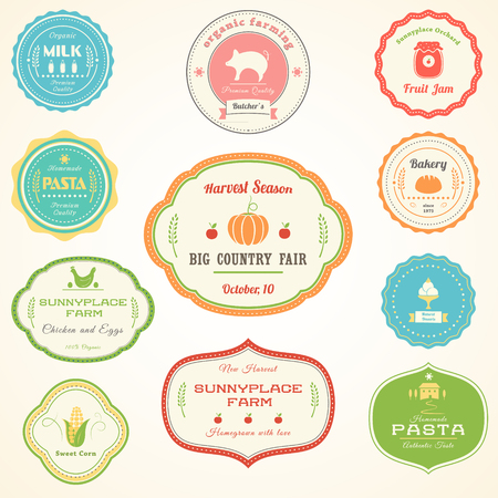 homemade bread: Farm Products Vintage Labels