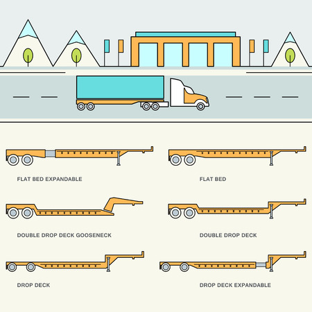 Freight Trailer Types Infographics