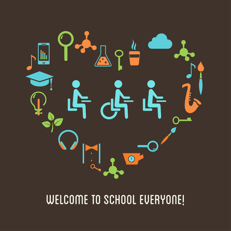 Special Needs Students Inclusion Education Concept Illustration