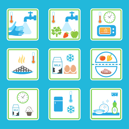 Food Safety Rules Infographics. Gezonde eetgewoonten