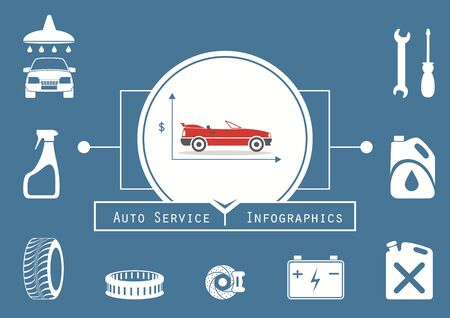 financing: Car Service Infographics. Car Financing