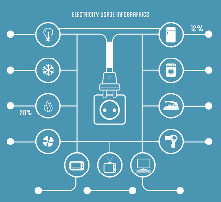 usage: Electricity Usage Infographic Template Illustration