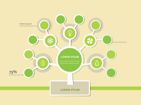 Infographics Tree Template