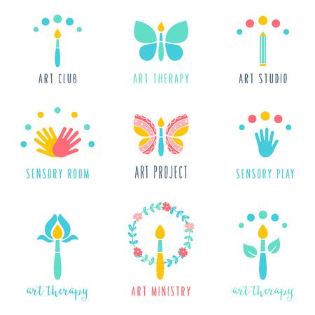 Klasa Art Studio i projektów ikony. Art Terapia i zmysłów Znaki Play.