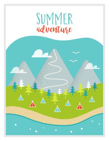 湖、山、森、キャンプ場やキャンプ場の風景