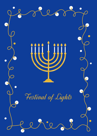 Hanukkah Candles. Menorah and Festival of Lights Sign. Vector Design. Stock Illustratie