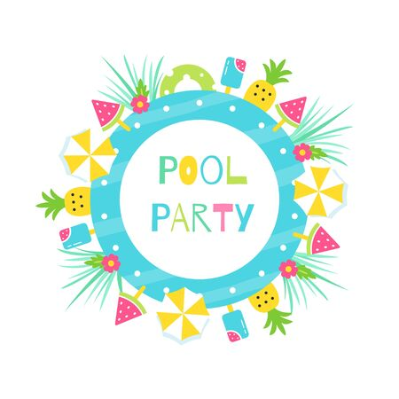 Summer Pool or Beach Tropical Theme Party
