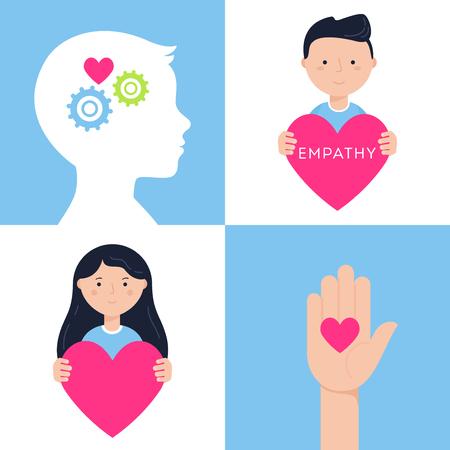 Emotional Intelligence, Empathy and Mental Health Concept Ilustracja