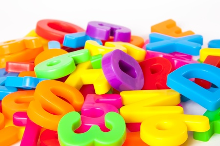 letters and numbers Stock Photo - 15622407