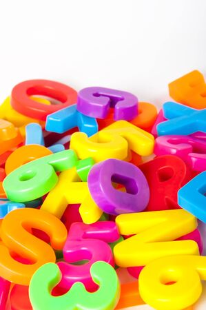 letters and numbers Stock Photo - 15622487