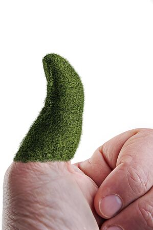 green thumb Stock Photo