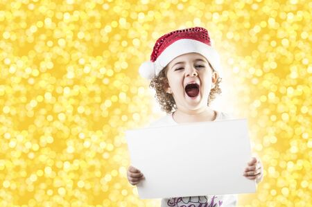 child who cries a special offer Christmas Stock Photo