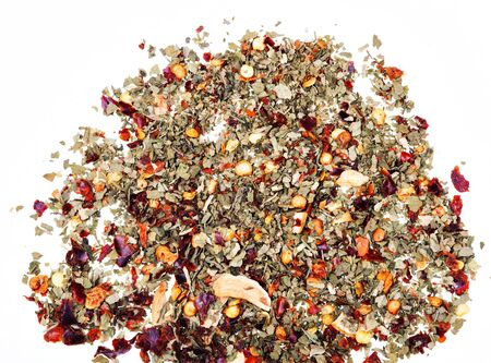 chopped spices on a white Stock Photo - 16992734