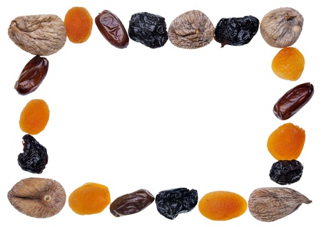 rectangular frame done with dried fruit
