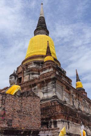 yai: Wat Yai Chaimongkol, Ayutthaya, Thailandia. Archivio Fotografico