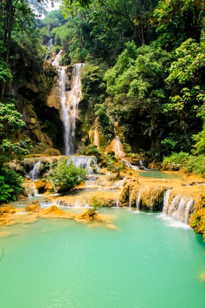 Waterfall in Luang Prabang Stock Photo - 14956665