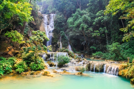 Waterfall in Luang Prabang photo