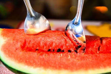 fresh and ripe watermelon