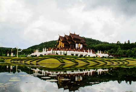 Ho Kham Luang in the international horticultural garden, Chiang mai Thailand