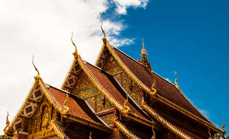 Beautiful thai temple Stock Photo