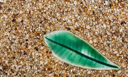 Plumeria ceramic flower leaves in spa Stock Photo