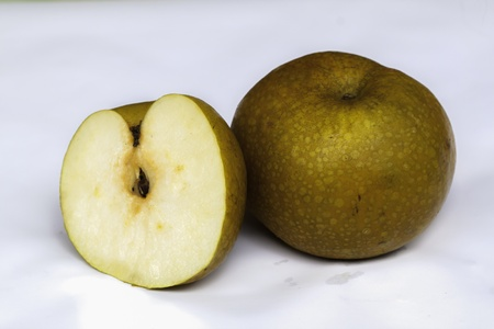 fresh pear fruits with cut Stock Photo