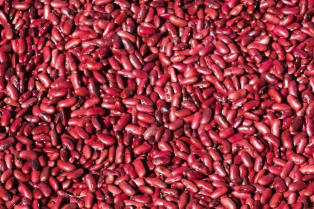 Red beans pattern as background Stock Photo