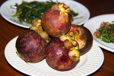 Mangosteen Thai fruit Stock Photo - 17166390