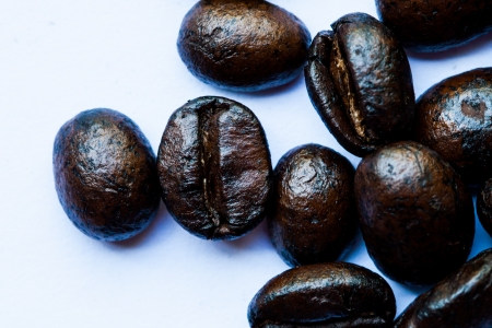coffee beans, isolated on white background