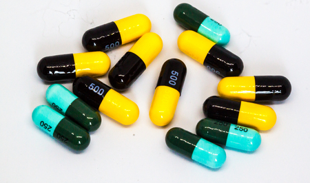 pills and capsules drug Stock Photo