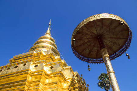 relic: Wat Phra That Si Chom Thong Worawihan is buddhist temple located in Chiang Mai Province, Thailand Editorial